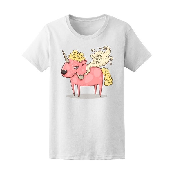 e5f353ca Shop Funny Smoking Unicorn Tee Women's -Image by Shutterstock - Free  Shipping On Orders Over $45 - Overstock - 20983803