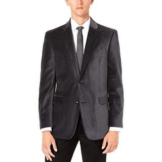 Link to Tommy Hilfiger Mens Modern-Fit TH Flex Stretch Velvet Sportcoat 38 Regular Grey Similar Items in Sportcoats & Blazers