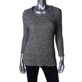 LRL Lauren Jeans Co. Womens Knit Marled Pullover Sweater - XL