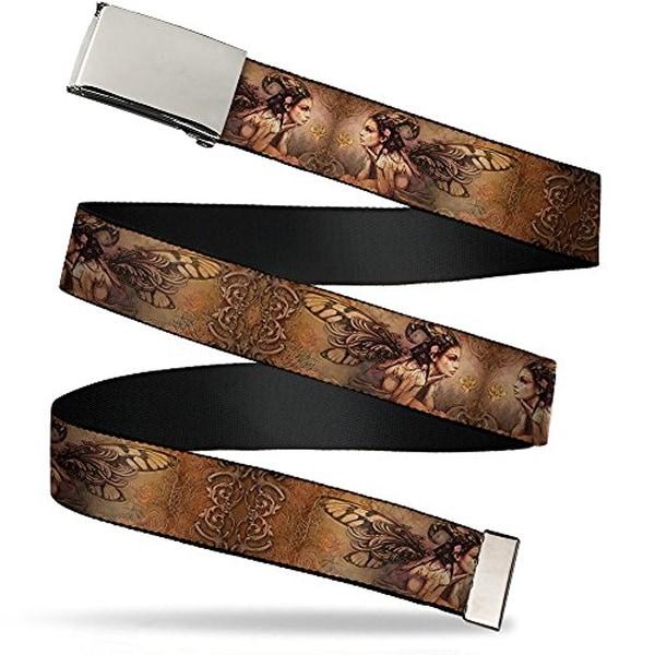 Buckle-Down Web Belt Tattoo Johnny Bollt Fairy 1.25""