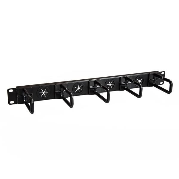 Startech - Cablmanagerh Cable Manager Organizernd-Ring Hooks Cable Holes 1U