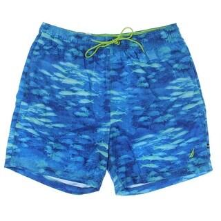 Nautica Mens Printed Quick Dry Swim Trunks - XL