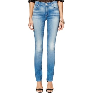 7 For All Mankind Womens The Modern Straight Straight Leg Jeans Denim Low-Rise