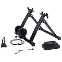 Costway Magnetic Indoor Bicycle Bike Trainer Exercise Stand 5 levels of Resistance - Black