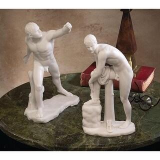 Design Toscano Le Gladiateur Borghese and Hermes with Sandal Set