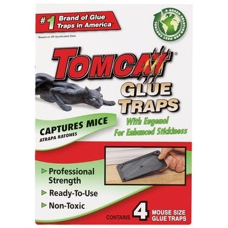 Tomcat 0362510 Mouse Size Glue Traps, 4-Pack