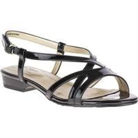 Soft Style Women's Maisy Slingback Sandal Black Patent PU