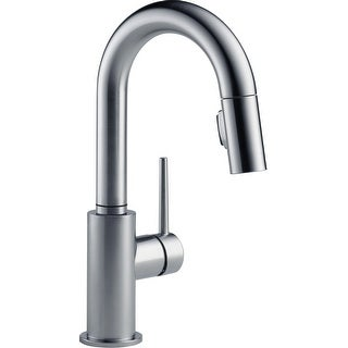 Link to Delta 9959-DST  Trinsic 1.8 GPM Single Hole Pull-Down Bar/Prep Faucet with Magnetic Docking Spray Head Similar Items in Faucets