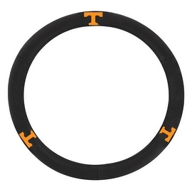 Pilot Automotive Black Leather University of Tennessee Volunteers Car Auto Steering Wheel Cover