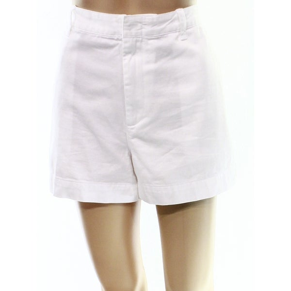 Shop Polo Ralph Lauren NEW White Women s Size 10 Twill Chino 5-Pocket Shorts  - Free Shipping On Orders Over  45 - Overstock.com - 20232295 2f0d5176a
