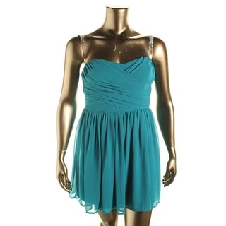 BCX Womens Juniors Cocktail Dress Chiffon Pleated