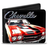 1970 Chevrolet Chevelle Black Silver Red Bi Fold Wallet - One Size Fits most