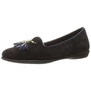 The Flexx Womens Misslipper Flats Suede Patent Trim