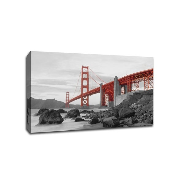 Golden Gate Bridge - Touch of Color - 36x24 Gallery Wrapped Canvas Wall Art ToC