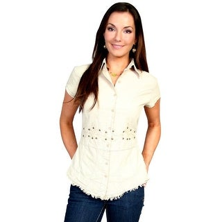Scully Western Shirt Womens Short Sleeve Solid Button PSL-071