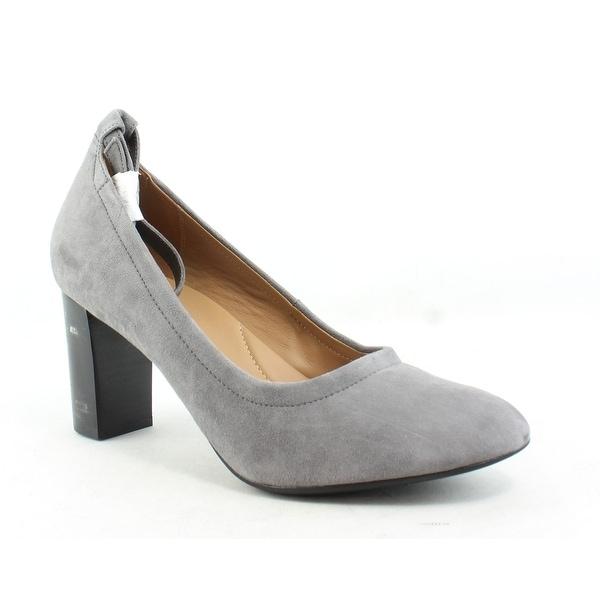 967525468de6c Shop Clarks Womens Chryssa Jana Grey Suede Pumps Size 12 - On Sale ...
