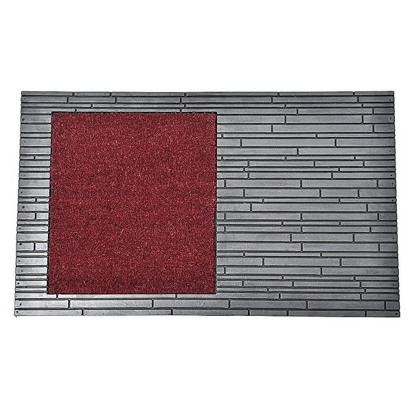 Front Door Mat Colin Coir Coco Rubber 30x18 Red Grey. Opens flyout.