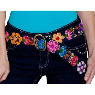 Scully Belt Womens Western Floral Embroidery Cinch Closure PSL-189 - One size