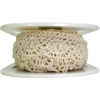 """Oval Cluny Lace 1-1/8"""" Wide 12 Yards-Natural"""