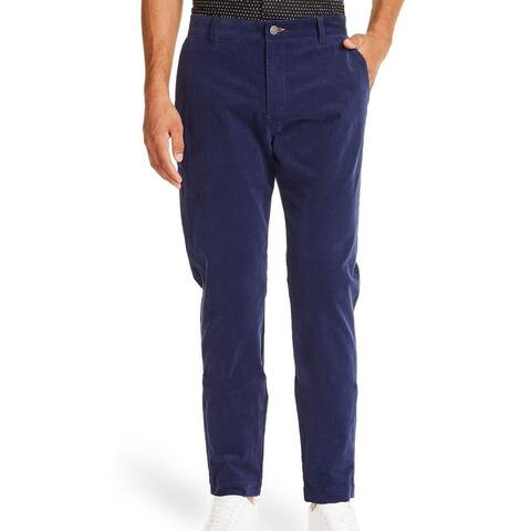 Tallia Sport Mens Pants Navy Blue Size 40x32 Flat Front Stretch Corduroy