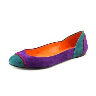 Via Spiga Melva Women Round Toe Suede Purple Ballet Flats