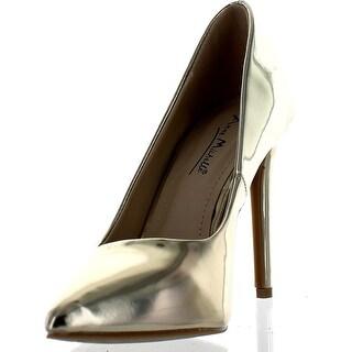 Bamboo Womens Riseup-05 Dress Heels Pumps Shoes