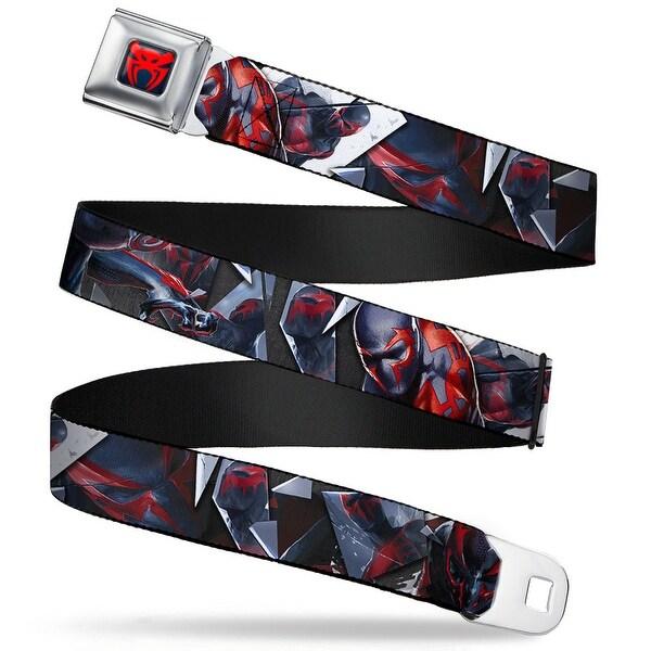Ultimate Spider Man Spider Man 2099 Spider Logo Full Color Navy Red Spider Seatbelt Belt