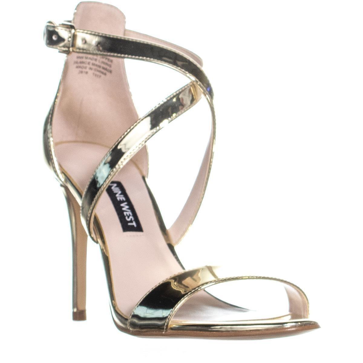 designer fashion convenience goods rock-bottom price Nine West Mydebut Dress Heel Sandals, Light Gold