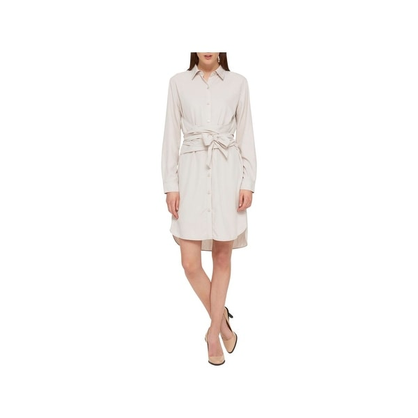2cc2e883d20 Shop DKNY Womens Shirtdress Button-Down Knee-Length - 12 - Free Shipping On  Orders Over  45 - Overstock.com - 22804406