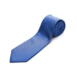 Luciano Barbera Men Slim Silk Neck Tie Blue
