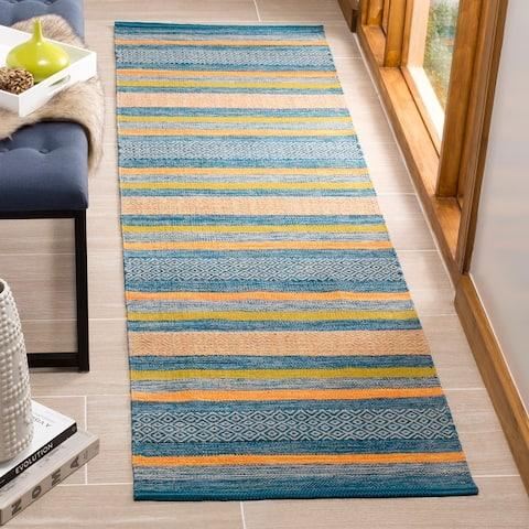 Safavieh Handmade Flatweave Montauk Teodorina Stripe Cotton Rug