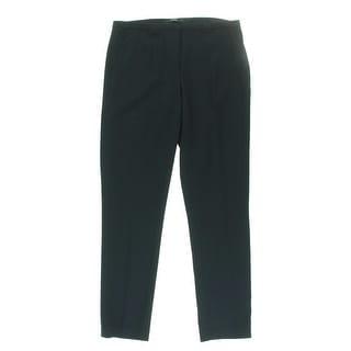 Tahari Womens Jillian Solid Flat Front Dress Pants - 2