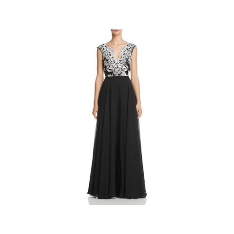 df951dd3cc1 Aidan Mattox Womens Formal Dress Embroidered Special Occasion