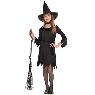AmScan Costumes USA Lil' Witch Child Costume (Large) - Black - large (12-14)
