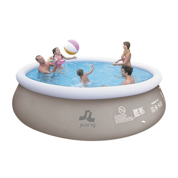 18 39 x 48 gray and white inflatable above ground prompt for Above ground pool set
