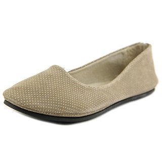 FS/NY Sloop Women Round Toe Suede Tan Flats