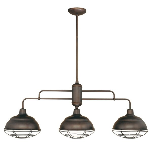 Millennium Lighting 5313 Neo-Industrial 3-Light Single Tier Linear Chandelier - n/a
