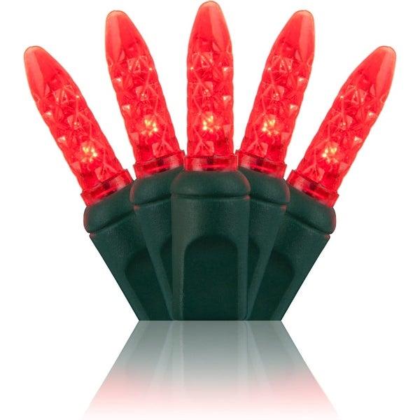 Wintergreen Lighting 20294 70 Bulb M5 Red LED Christmas Lights - N/A