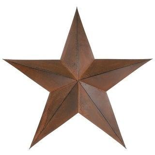 "Gift Corral Western Star Rustic House Barn Metal 24"" Brown 87-1053"