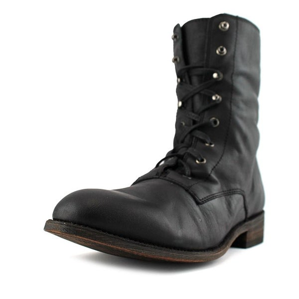 Independent Boot Company Locke Round Toe Leather Boot