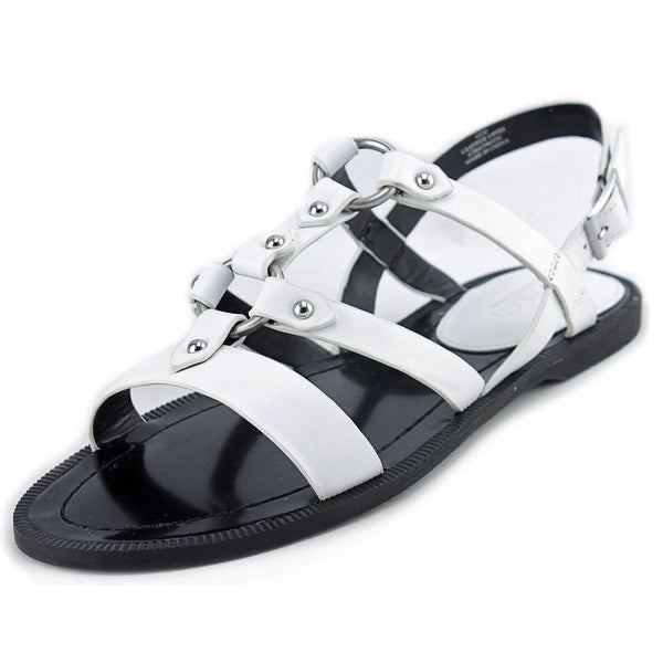 Charles By Charles David Anna Women Open Toe Leather White Gladiator Sandal