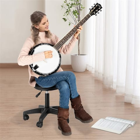 6-String Resonator Banjo Right Handed Back & Sides Sapele with Strings