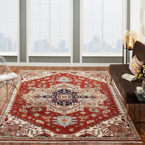 Claret Hand-Knotted Area Rug