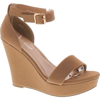 Top Moda Womens Beryl-1 Platform Wedge Fashion Sandals With Ankle Strap
