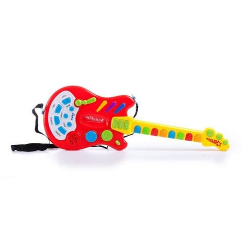 Electric Guitar Toy With Sound And Lights - Multi