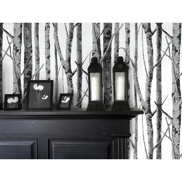 Shop Nextwall Birch Trees Peel And Stick Removable Wallpaper 20 5 In W X 18 Ft L Overstock 31517668