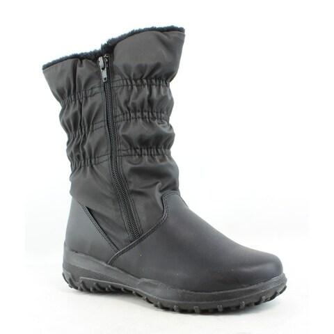 Tundra Womens Peetra Black Snow Boots Size 7 (C,D,W)
