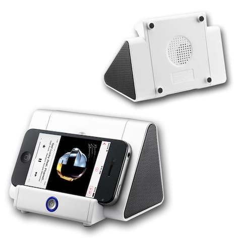 Alpine White BOOST+ Speaker by Indigi® - 750mAh - Universally Compatible