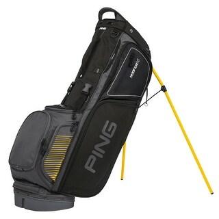 New Ping 2017 Hoofer 14 Golf Stand Bag (Charcoal / Black / Yellow) - charcoal / black / yellow