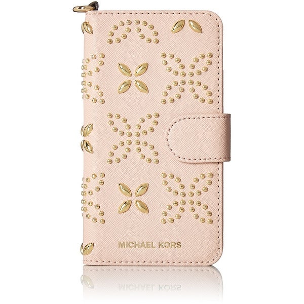 e14869b25aa243 Michael Kors NEW Pink Saffiano Micro-studded iPhone 7 Case Folio Wallet